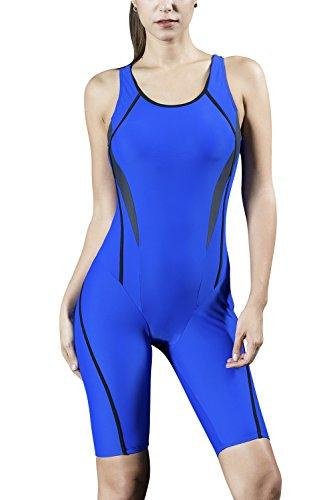 Dolamen dames sport boyleg surfen badpak buikweg badkleding eendelige badjurk, ingebouwde cup spa legsuit badpak strandjurk baden zwemmode