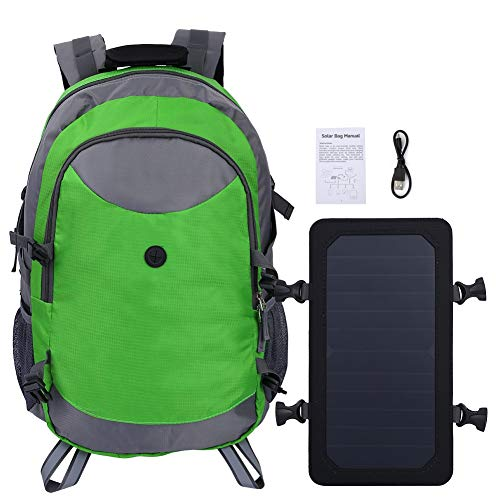 Kays Outdoor Solar Charge Travel Backpack Shoulder Bag For Cycling Hiking Camping For Men Women - Green