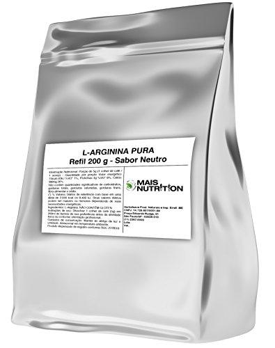 Arginina Po 200g 200 gramas Mais Nutrition