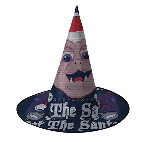 OJIPASD Dinosaurier Not The Santa Baby Sinclair Weihnachten Strickmuster Hexe Hut Halloween Unisex Kostüm für Urlaub Halloween Weihnachten Karneval Party