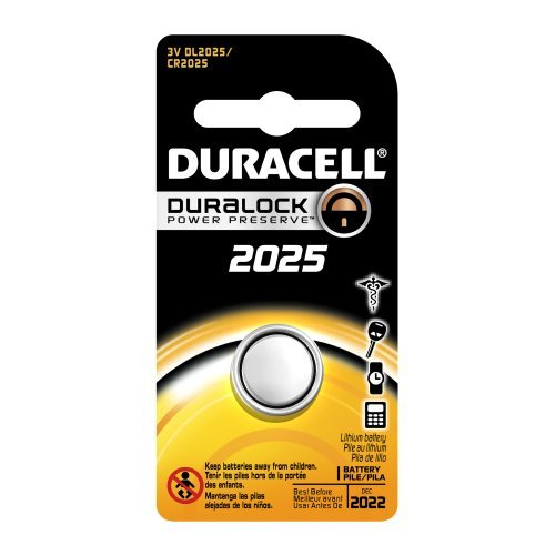 Duracell dl2025bpk Lithium Coin Battery, 2025 Size, 3 V, 160 mAh Capacity (Case Of 6) style : 2025 Taille : 6