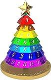 MTDBAOD Aluminum Christmas Tree Dice Set,7pcs/Set New Playing Dice Innovative RPG Dice Metal Dice Set,Christmas Tree Dice for Tabletop Gaming and Family Fun! (Rainbow Colors)