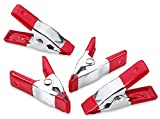 Katzco 2 Inch Mini Spring Clamp Set - 4 Pack - Easy Grip Ergonomic Handle - for Gripping, ...
