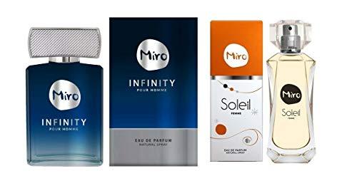 Miro Soleil Eau de Parfum Spray 50 ml + Miro INFINITY Pour HOMME Eau de Parfum Spray 75 ml