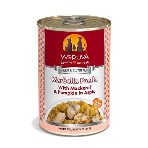 Weruva Classic Dog Food, Marbella Paella with Mackerel & Pumpkin in Aspic, 14oz Can (Pack of 12)