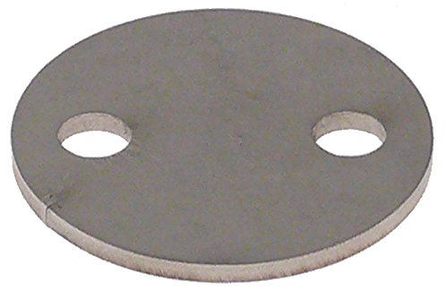 Fagor - Soporte magnético para lavavajillas FI-550D, FI-550I, FI-370D, FI-370I para sistema de transporte, grosor 2 mm, diámetro 35 mm, distancia entre orificios 21 mm