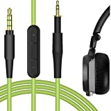 Geekria Quickfit Cable de Repuesto con micrófono para AKG K430 K450 K451 K452 K450, Q460, JBL J55, J88 Cable de Audio con Control de Volumen y micrófono, Compatible con Android, Apple Dispositivo
