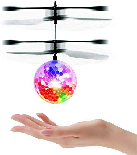 UTTORA Fliegender Ball, Helikopter Flugzeug Hubchrauber Spielzeug ,Infrarot-Induktions-Hubschrauber , Spielzeug , Flugzeuge Drohne mit bunt leuchtendem LED-Licht, Indoor und Outdoor-Spiele Geschenke