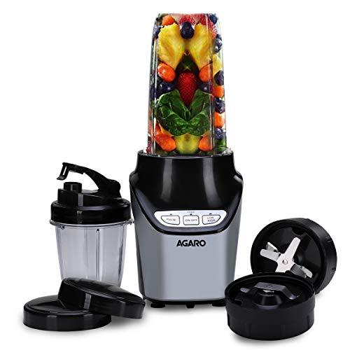 AGARO Nutri Blender with Motor, 2 Speed Modes and Tritan Jar, 1000W, 2 Jar (Black)