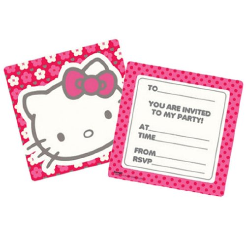 Bonjour Kitty Party Invitations (Pack de 6)