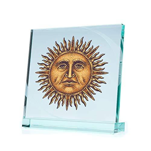 Bumber Sticker Gold Sun God Tattoo Style Tablet Laptop 7 X 7