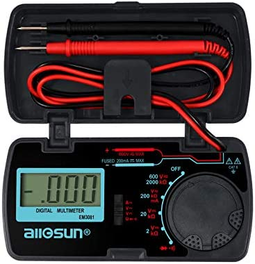 ALLOSUN EM3081 Digital Multimeter DMM Multi Tester Amp Ohm Volt Meter Diode and Continuity Test product image