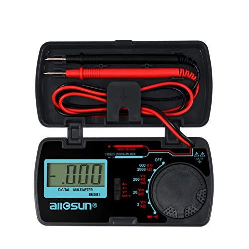 ALLOSUN Digital Multimeter/DMM/Multi Tester Amp/Ohm/Volt Meter/Diode and Continuity Test Pocket