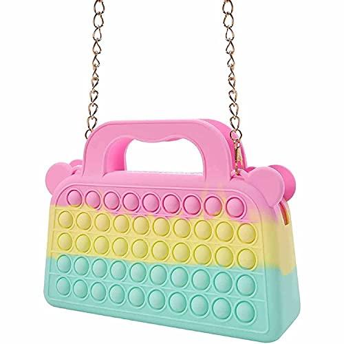 Fidget Toys its Crossbody Purse Bags Backpack for Women Girls, Push Bubble...