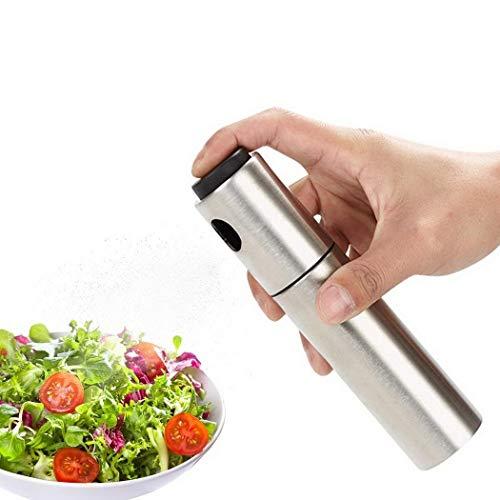 Zuionk Aceitera con spray de acero inoxidable para la cocina y el aceite