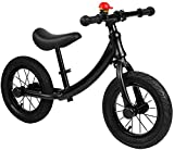 JIAO Bicicleta De Equilibrio De Aleación De Aluminio Infantil Negro, Bicicleta para Niños Sin Pedal para Niños