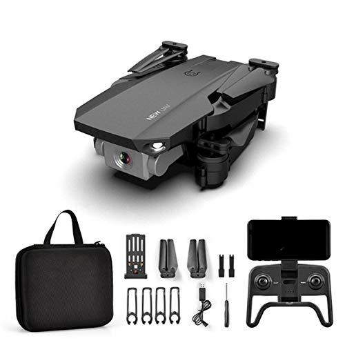 FHJZXDGHNXFGH R12 Mini RC Drone Plegable con HD 4K Cámaras duales Gimbal Altitude Hold RC Helicóptero Drone Modo sin Cabeza Negro