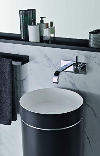 Alape wastafel WT.RX400.KE, ronde diameter 40.0cm, 4506500000, Kleur: Bicolor (mat zwart/glanzend wit) - 4506500180