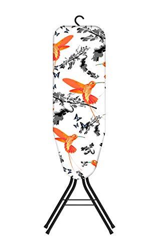 rorets Easy-Store - Mini Tabla de Planchar con Gancho para Colgar (85 x 30 cm), Color Negro