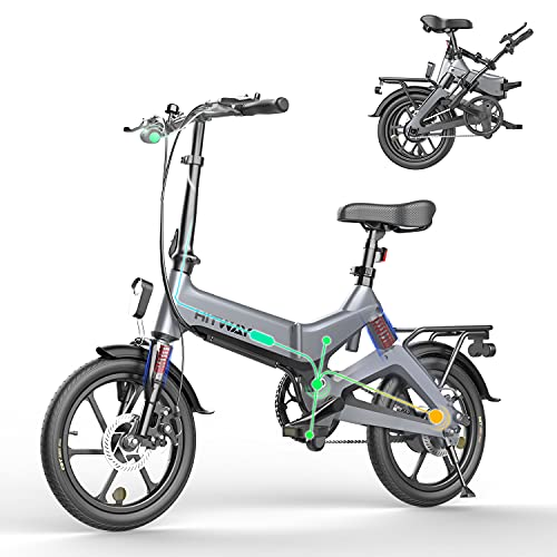 HITWAY Bicicleta eléctrica GEARSTONE, Ligera, 250 W, Plegable, eléctrica,...