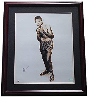 Muhammad Ali Autographed Signed 16x20 Young Cassius Clay Photo Framed Auto Oa Steiner Authentic
