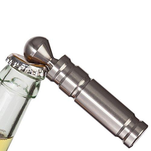 LITIM|Home Design X Flaschenöffner Edelstahl | Kapselheber aus rostfreien Edelstahl | 9,5 x 2 x 2 cm 190g | Made in Germany (matt)