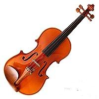バイオリン キッズ初心者の学生、ハードケース、ロジン、弓バイオリンセットエボニーフィットソリッドウッドバイオリン 学生用 (Color : Brown, Size : 1/4)