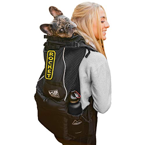 K9 Sport Sack Knavigate | Dog Carrier Dog Backpack for Most Dog Sizes | Front Facing Adjustable Dog Backpack Carrier | Veterinarian Approved (Medium, Midnight Black)