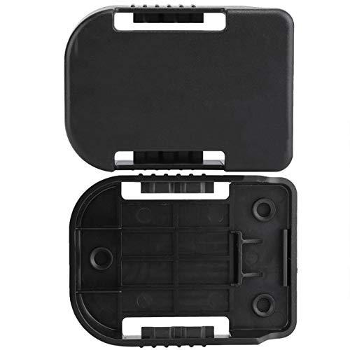 Estante con ranura para soporte de batería, soporte de batería de ABS negro 5 piezas, talleres perfectos para uso profesional