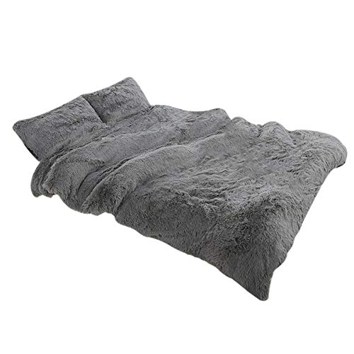 lzndeal Throw Blankets, 3pcs/Set Fluffy Blanket with Pillow Cover Warm Soft Fleece Blanket for Children Adult - Blankets - Throw Blankets for Couch Bed Sofa Car Office Travel