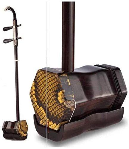 Erhu, Anfänger Erhu, Semu/Ebony Erhu Musikinstrument Praxis, General Leistung Erhu, Nationalmusikinstrument Brocade Boxed Sequoia + Buch Lehrmaterial + Tuner Gift Pack HUERDAIIT