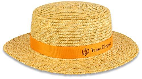 Veuve Clicquot VCP strohoed geel label dames en heren champagne zomer hoed 57 cm