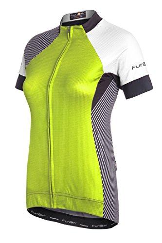Funkier–Maillot de Mataro wj814Pro de Manga Corta Ciclismo Jersey, Mujer, Color Amarillo...