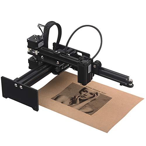 KKmoon 3500 mw Graviermaschine, Tragbare Desktop Engraver, Mini Carver DIY Logo Markendrucker mit Schutzbrille Arbeitsbereich 150mm * 150mm