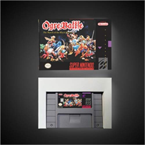 Game card - Ogre Battle The March of the Black Queen - RPG Game card - Battery Save US Version Retail Box ,Game Cartridge 16 Bit SNES