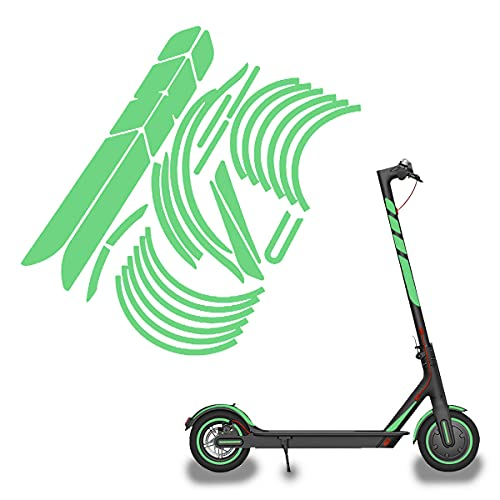 Pegatina Reflectante Scooter, Scooter Eléctrico Pegatina, Prueba de Agua Scooter Pegatinas Reflectante,...