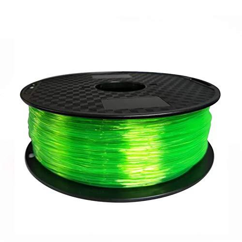 YANGDONG Elastische Flexible TPU, 3D Drucker Filament 1,75mm 500g, 85a Gummimaterial, Für 3D-Druck, Kein Verstopfung, Keine Luftblasen, Umweltfreundlich (Color : 7A Green 500g)
