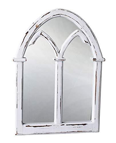 Palazzo Awc074 - Espejo de pared, diseño gótico, color blanco