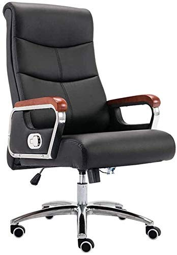 WSDSX Office Chairs Computer Chair High Back Reclining Executive Ergonomic Office Desk Chair with Footrest Leather Desk Gaming Chair PU Leather Fabric Height (Color : B)