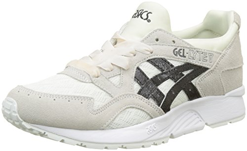 ASICS Damen Gel-Lyte V Sneaker, Grau (Cream/Black 0090), 41.5 EU