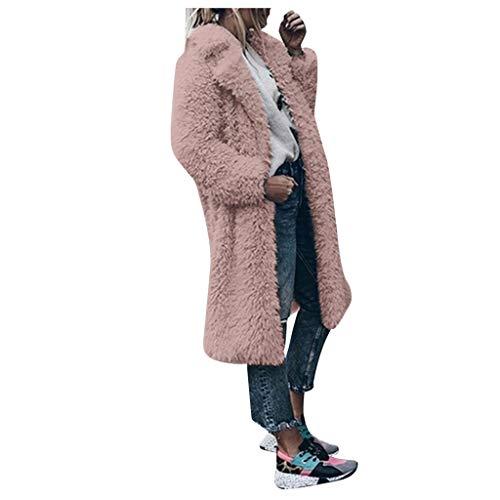 Best Bargain NANTE Top Loose Women's Coat Artificial Wool Coats Jacket Lapel Long Style Winter Outwe...