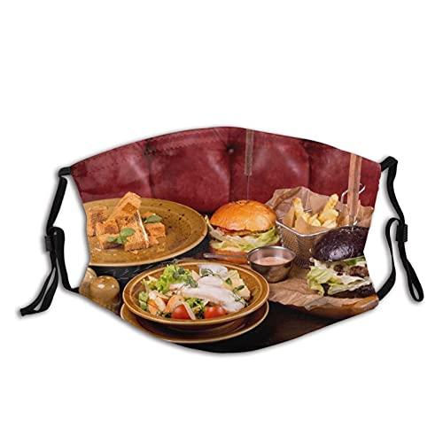 Confortevole Maschera Viso Insalata Verdure Burger Sun-Proof Moda Bandana Copricapo per Pesca