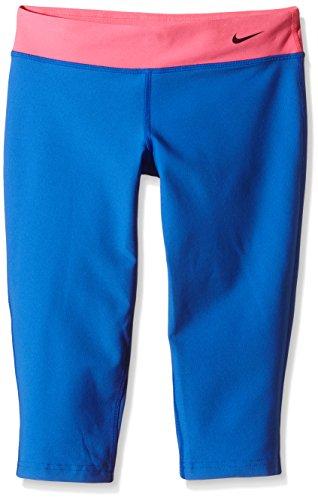 Nike Mädchen Capri Sporthose Legend Tights Fit, Hyper Cobalt/Hyper Pink/Black, L