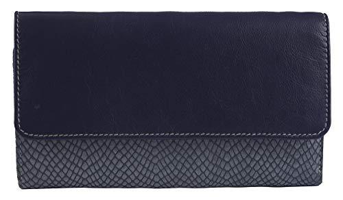 Sunsa Geldbörse für Damen großer Leder Geldbeutel Portemonnaie mit RFID Schutz Brieftasche mit viele Kreditkarten Fächer Geldtasche Wallet Purses for Women das Beste Gift kleine Geschenk 81625