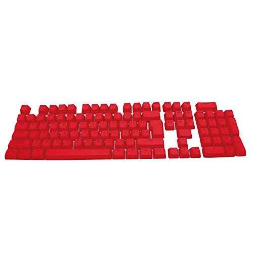 Bossi 104 Backlit Keycaps PBT Doubleshot Keycaps for Cherry MX and Gaming Mechanical Keyboard Replace Keycaps with Key Puller - Red