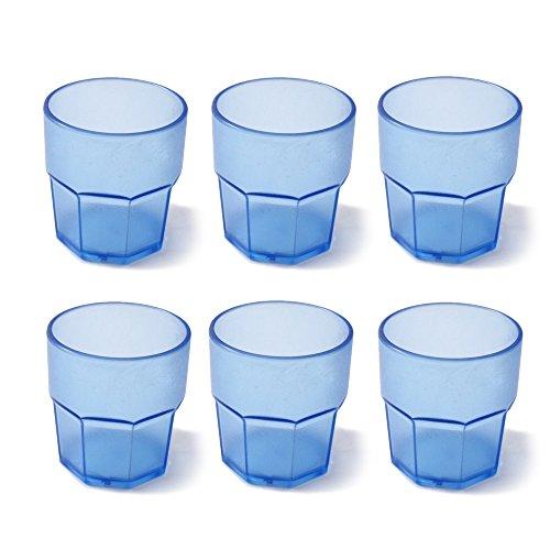 Cartaffini Agile Juego 6Vasos irrompibles, Azul, 6Unidad