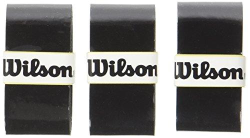 Wilson Pro Overgrip Empuñadura, 3 unidades, unisex, negro