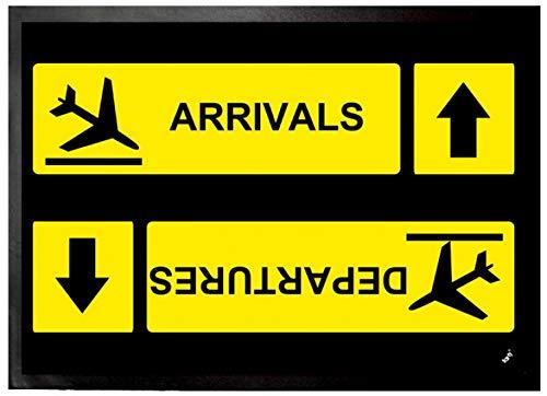 1art1 Aeropuertos - Arrivals Departures Felpudo Alfombra (70 x 50cm)