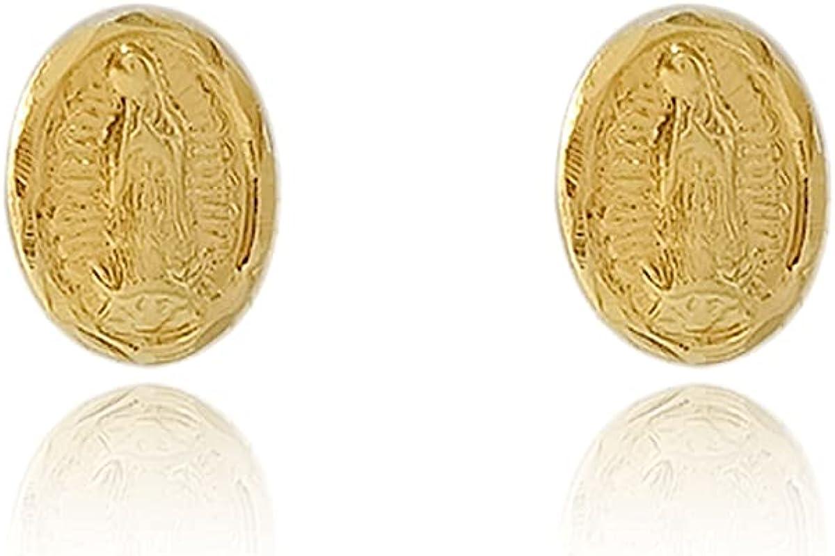18K Gold Laminated Virgin Cufflinks, Measures 3/8