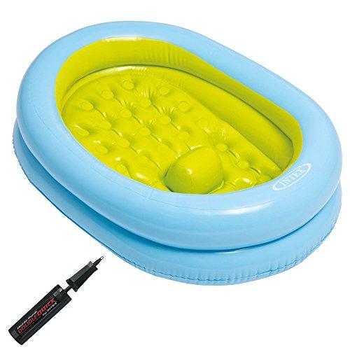 Intex Baby Bath Tub Set - Babybadewannen-Set mit Handpumpe - 86 x 64 x 23 cm - Für 0-12 Monate